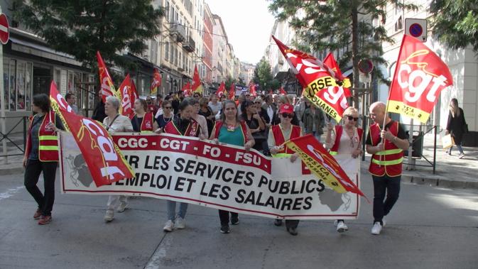 Bastia : Travailleurs, chômeurs et retraités dans la rue