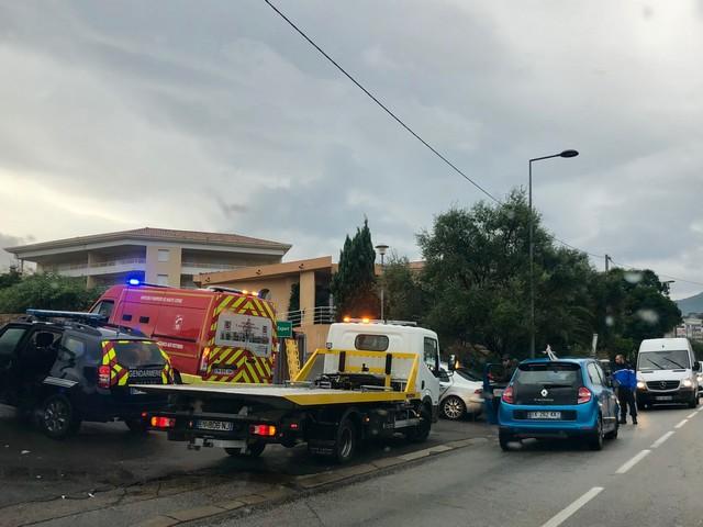 Accident de la circulation à l'Ile-Rousse : deux blessés