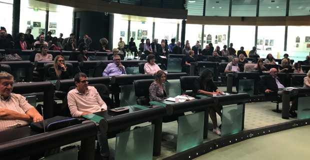 Les acteurs sociaux réunis en conférence à la Collectivité de Corse à Bastia.