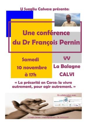 Précarité en Corse: Conférence du Dr.François Pernin le 10 novembre à Calvi