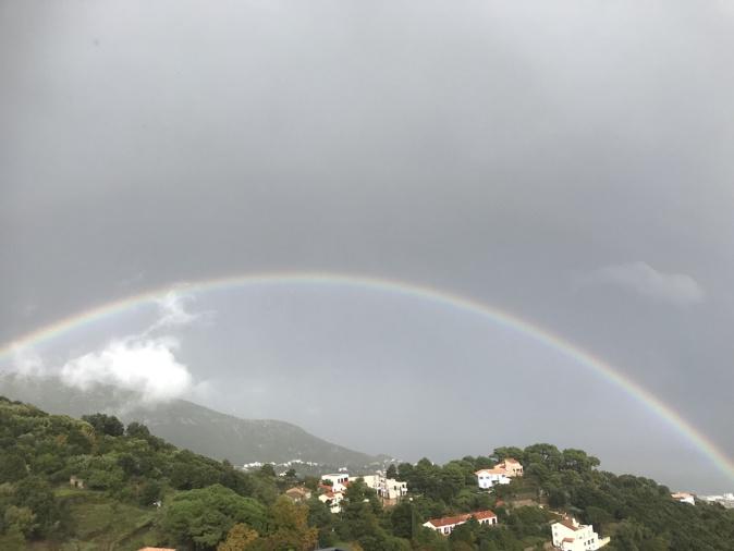 Au-dessus de  Bastia