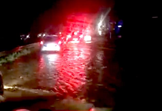 Nouveaux et violents orages à Bastia : Le Bevincu submerge la 4 voies