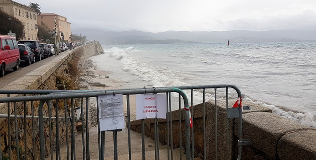Ajaccio : Tonnage limitée boulevard Lantivy et plage Saint François interdite