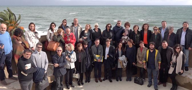 Les partenaires du programme Gritaccess rassemblés sur la tour de Miomu (CNI)