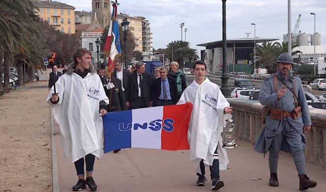 La flamme du Soldat Inconnu à Bastia