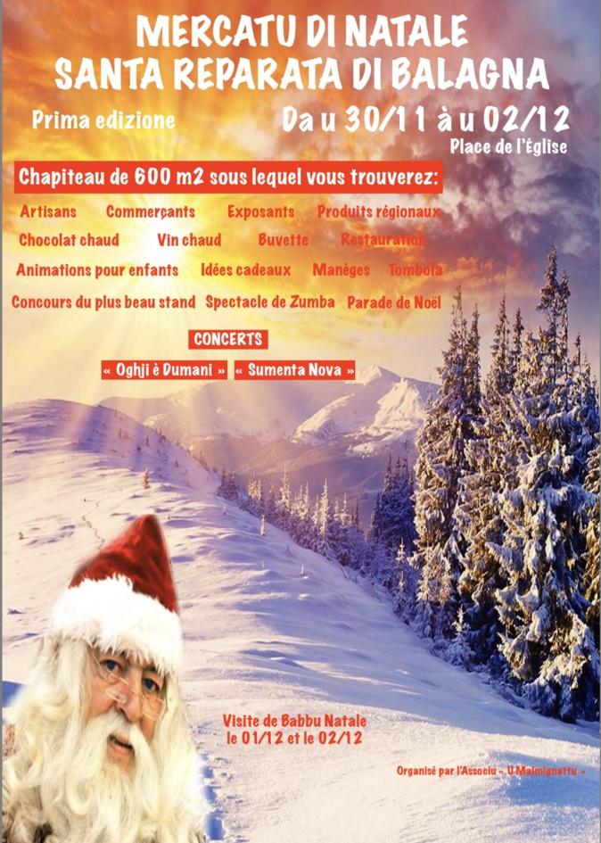 Santa-Riparata-di-Balagna fait son premier marché de Noël
