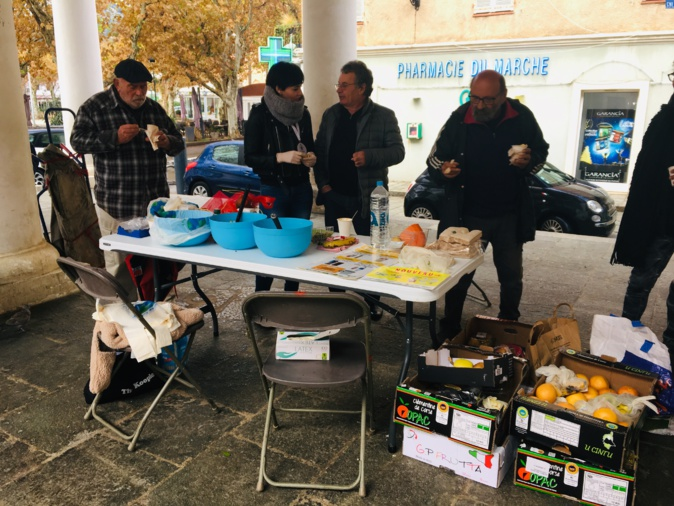 Action contre le gaspillage alimentaire à Lisula
