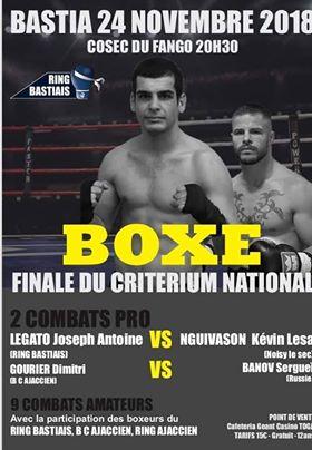 Bastia : Gala de Boxe du Ring Bastiais ce samedi soir