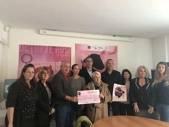 Bastia : Un chèque de 12 858,10 € pour lutter contre le cancer
