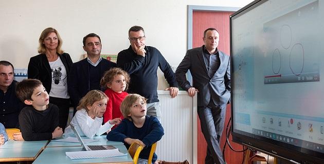 Les élèves de l'Ecole Forcioli Conti très concentrés / Photo ville