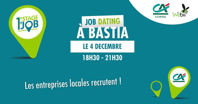 Bastia : Job Dating pour l'emploi des jeunes avec le Crédit Agricole de la Corse et Wizbii