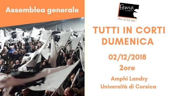 Pudemu : Un appel pour Femu a Corsica ce dimanche à Corti