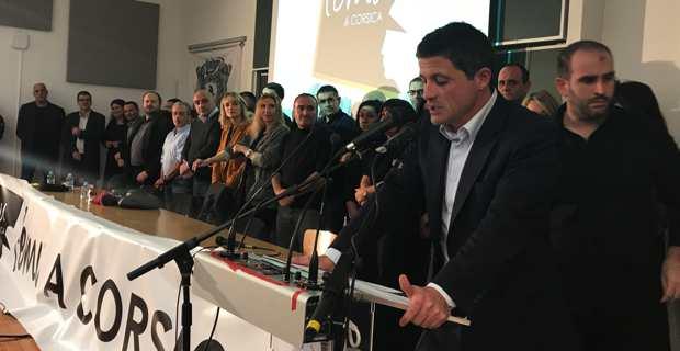 Jean-Félix Acquaviva, élu secrétaire national de Femu a Corsica, lance un appel à la mobilisation
