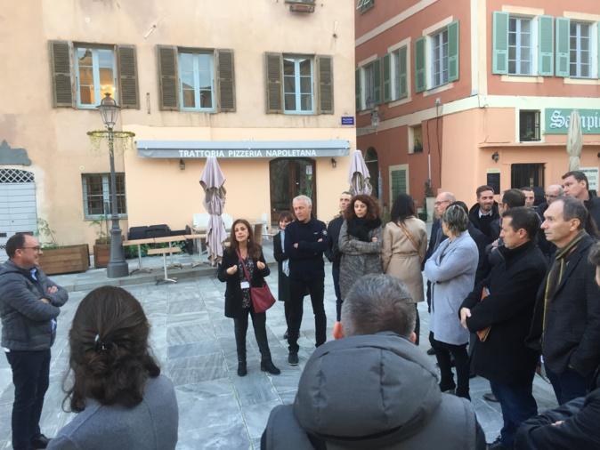 CNI a suivi dans les rues de Bastia, Parisa Paolantoni, présidente de de l'Association des Guides du Palais des Gouverneurs et du Patrimoine Bastiais.