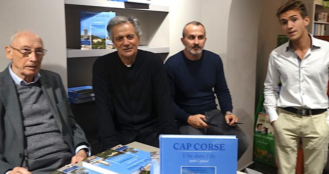 Les trois auteurs avec Henri Medori