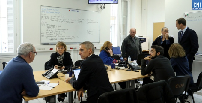 Le Centre d'Opération Départemental est activé depuis ce matin 7h à Ajaccio/ Photo Michel Luccioni