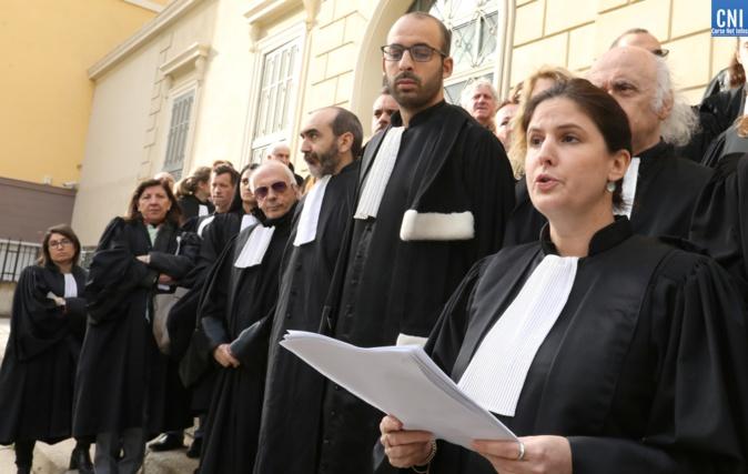 'Réforme de la justice  :  Les avocats du barreau d'Ajaccio jugent le projet inacceptable