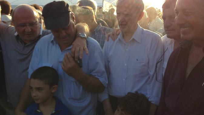 Edmond Simeoni en août 2014, lors de l'inauguration de la plaque d'Aleria commémorant les évènements de 1975.