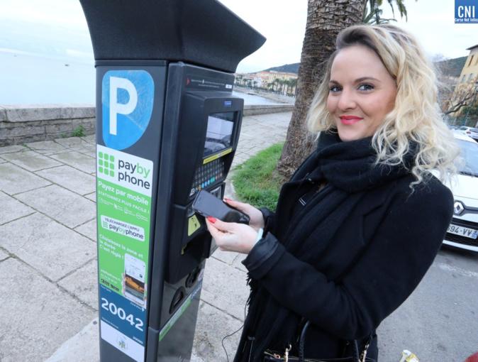Le paybyphone a été présenté jeudi à Ajaccio (Photos Michel Luccioni)