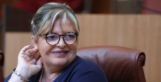 Marie-Hélène Casanova-Servas, conseillère territoriale Pè a Corsica et présidente du Conseil de surveillance d'Air Corsica. Photo Michel Luccioni.