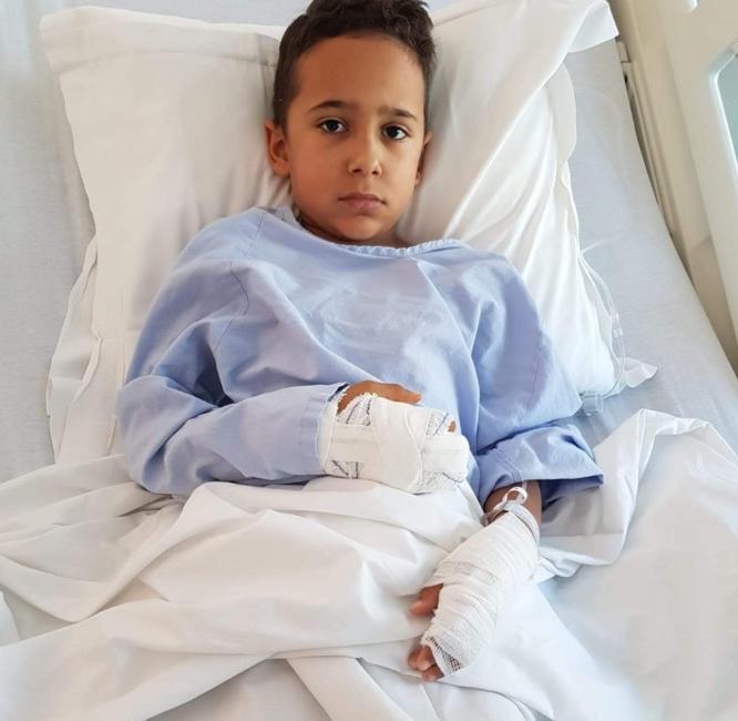 Une nouvelle opération pour Enzo amputé d'un doigt à la suite d un accident sur la patinoire de Calvi