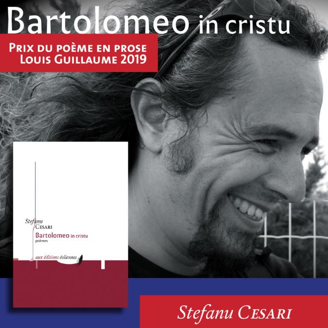 Stefanu Cesari décroche le prix du poème en prose Louis Guillaume