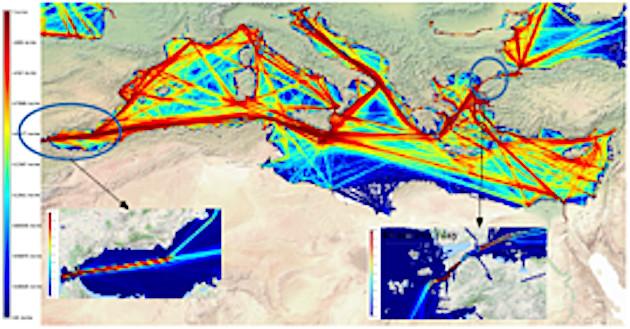 La méditerranée connait un trafic maritime intense (Source : Organisation Maritime Internationale)