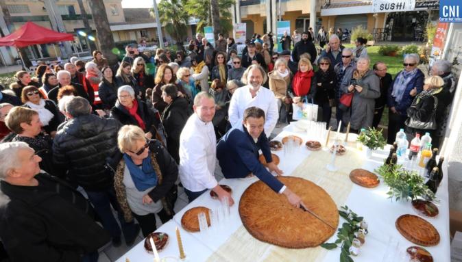 Galette géante à la Journée de solidarité de Sarrola Carcopino - Photo : Michel Luccioni