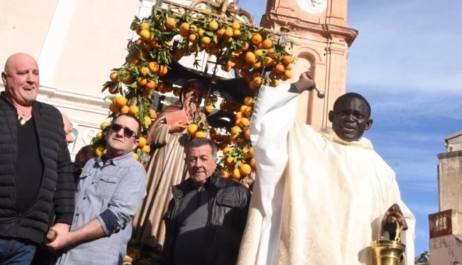Sant'Antone Abbate et ses oranges merveilleuses à Aregnu