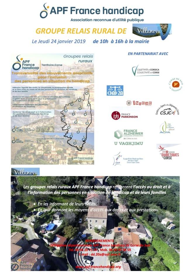 Jeudi 24 janvier l'APF à Villanova pour animer un nouveau Groupe Relais