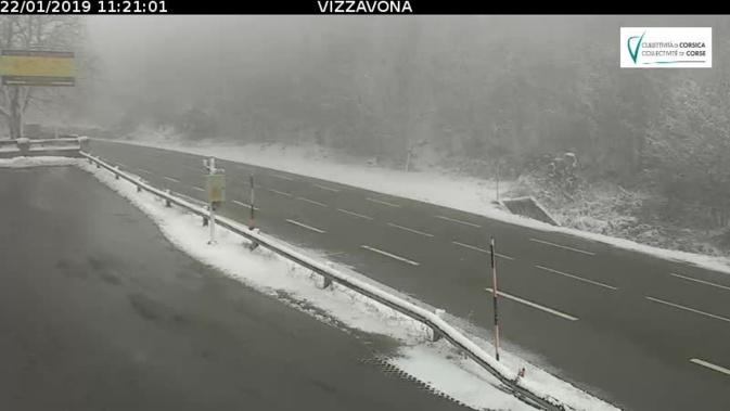 Météo : La Corse du sud reste placée en vigilance jaune orages neige/verglas