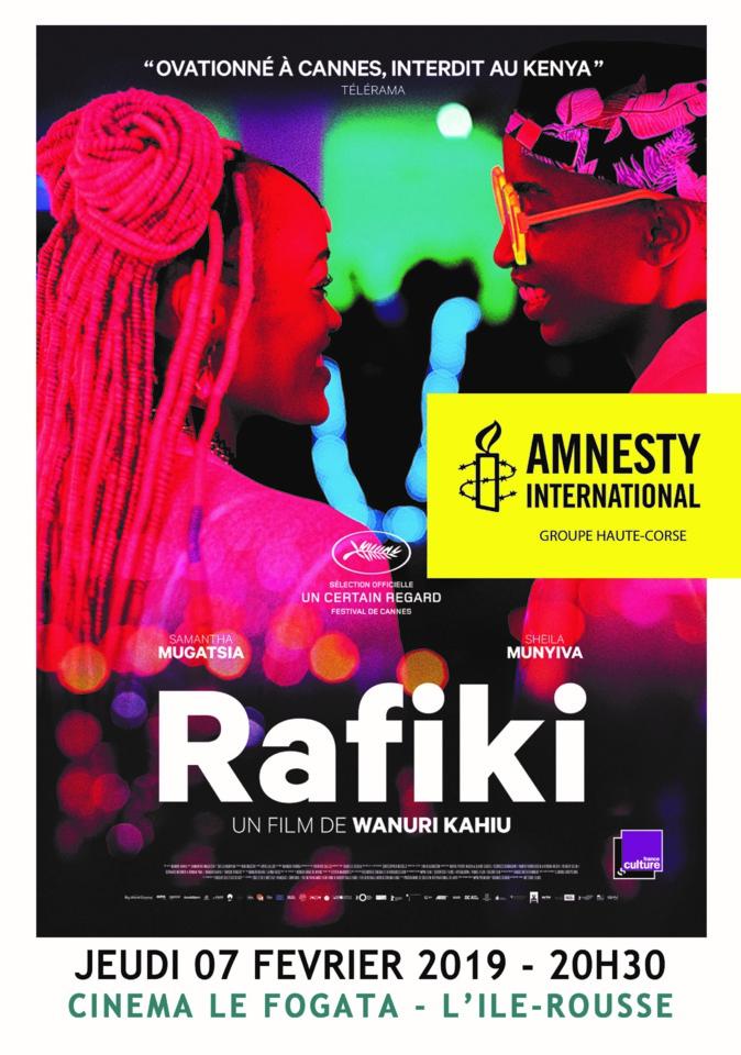 """Assemblée générale à Bastia et projection du  film """"Rafiki"""" à Lisula pour Amnesty International"""