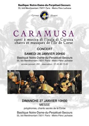 Caramusa : La musique traditionnelle corse en concert exceptionnel samedi à Paris