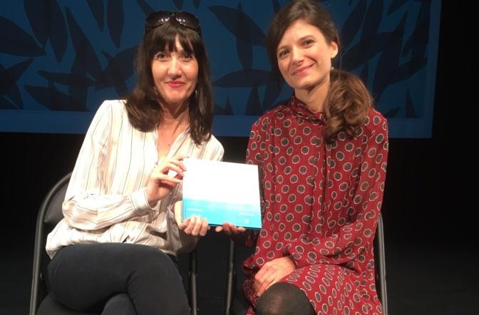"""""""Nasce"""" a été présenté par son auteure, Sonia Moretti et son illlustratrice, Sarah Jossen."""
