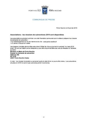 Porto Vecchio : les dossiers de subventions 2019 pour les associations sont disponibles