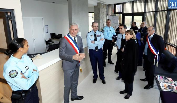 Xavier Lacombe Maire de Peri  a reçu Le Général Richard Lizurey, directeur général de la Gendarmerie Nationale et Josiane Chevalier Préfète de Corse