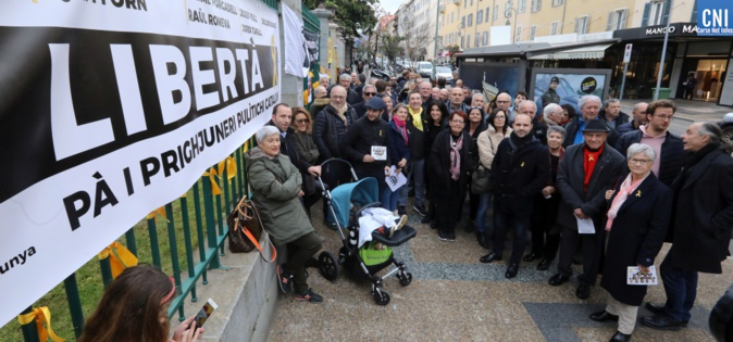 Le soutien corse aux  prisonniers catalans / Photos Michel Luccioni