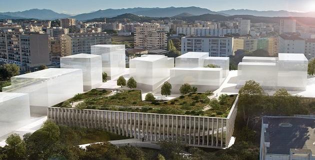 Le futur Conservatoire de musique, de danse et d'art dramatique Henri Tomasi