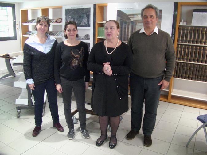 Invité de Linda Piazza à la bibliothèque patrimoniale, l'égyptologue Francesco Tiradritti