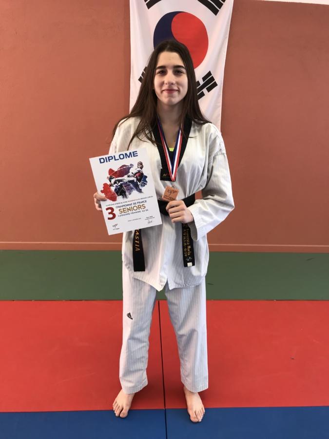 Taekwondo: Nouvelle médaille pour la Bastiaise Francesca-Maria Franceschi