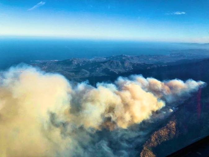 Accalmie sur le front de l'incendie de Calenzana