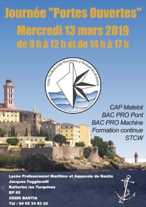 Portes Ouvertes au Lycée Professionnel Maritime et Aquacole de Bastia : De nombreuses opportunités d'emploi à saisir