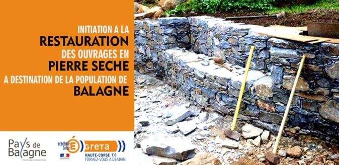 Initiation à la restauration d'ouvrages en pierre sèche pour Balanins