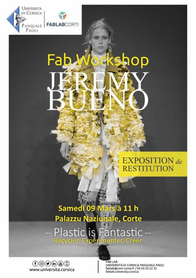 Plastic is fantastic : Le FabLab de Corte organise un workshop avec le couturier Jeremy Bueno