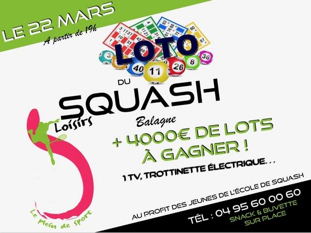 Loto au profit de l'école de Squash de l'Ile-Rousse