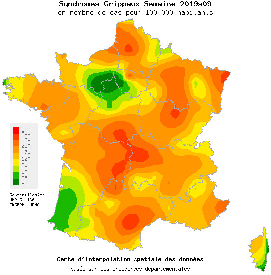 Grippe : Net recul de l'épidémie en Corse