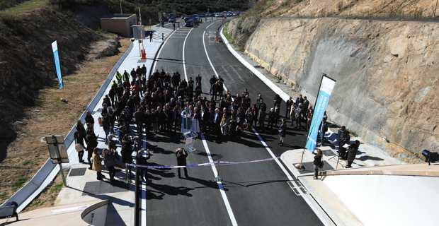 Inauguration de la déviation de Pruprià à l'entrée Sud du tunnel de Vighjaneddu sur la RT 40.