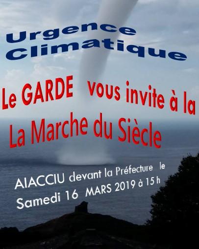 Marche du Siècle pour le Climat : rendez-vous à Ajaccio le 16 mars