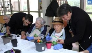 Hôpital Eugénie d'Ajaccio : un atelier jardinage pour 18 résidents