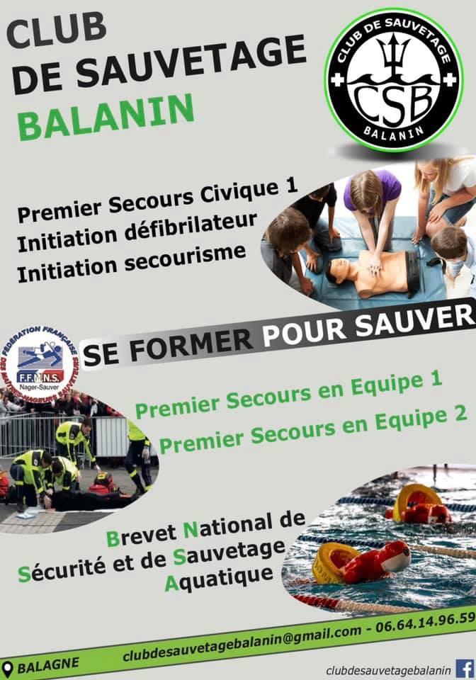 Vous pouvez sauver une vie : apprenez les gestes de premier secours avec le Club de Sauvetage Balanin